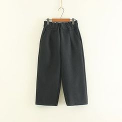 Mushi - Cropped Woolen Harem Pants