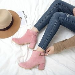 Gizmal Boots - 粗跟踝靴