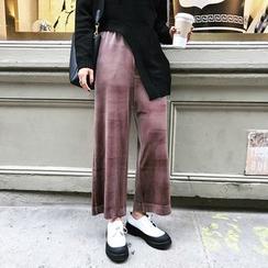 Fancy Room - Wide-Leg Cropped Pants