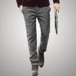 Mannmix - Check Straight-Leg Pants