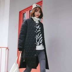 Sienne - Quilted Snap Button Coat