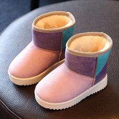 綠豆蛙童鞋 - 童裝毛裡雪靴
