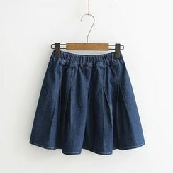 Aigan - Denim A-Line Skirt