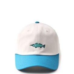 Ohkkage - Logo-Front Color-Block Baseball Cap