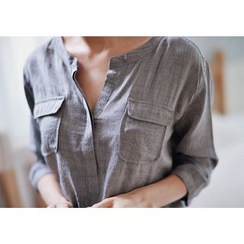 GOROKE - Dual-Pocket Half-Placket Shirt