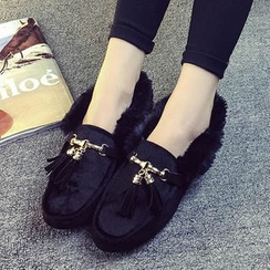 IYATO - Tasseled Pony Hair Flats