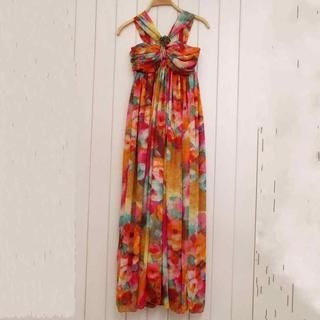 Ando Store - Sleeveless Floral Maxi Dress