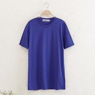 JVL - Short-Sleeve Plain Long T-Shirt