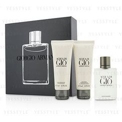 Giorgio Armani 乔治亚曼尼 - Acqua Di Gio Coffret: Eau De Toilette Spray 50ml/1.7oz + All Over Body Shampoo 75ml/2.5oz + After Shave Balm 75ml/2.5oz