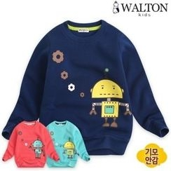 WALTON kids - Kids Robot Print Brushed-Fleece Lined Sweatshirt