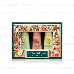 Crabtree & Evelyn - Botanicals Hand Therapy Sampler Set: Pomegranate + Citron + Avocado