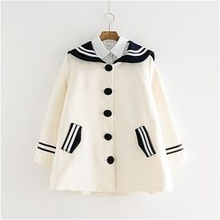 Storyland - Sailor-Collar Buttoned Coat