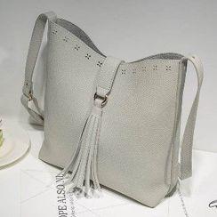Axixi - Tasseled Cutout Cross Bag