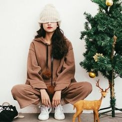 MOJIN - Set: Hooded Pullover + Cropped Pants