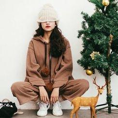 MOJIN - 套裝: 連帽套衫 + 九分褲