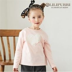 LILIPURRI - Girls Heart Print T-Shirt