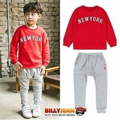 BILLY JEAN - Boys Set: Lettering Sweatshirt + Cotton Sweatpants