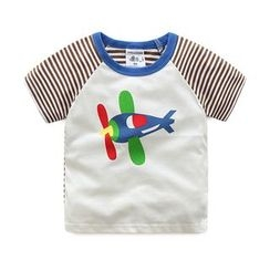 WellKids - Kids Short-Sleeve Printed Raglan T-Shirt