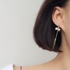 Calypso - 純銀珍珠不對稱耳環
