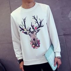 Besto - Deer Printed Neoprene Pullover