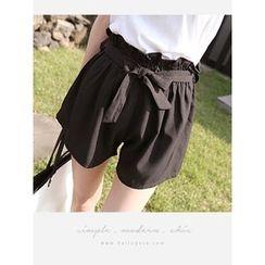 hellopeco - 纸袋腰短裤