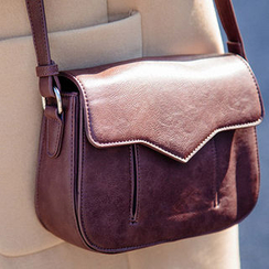 chuu - Flap Faux-Leather Shoulder Bag