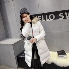 RUI - Furry Hooded Padded Coat