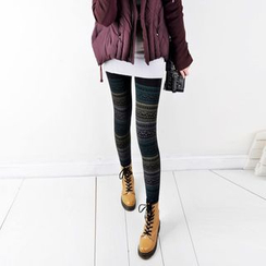 Chuba - Fleece Lined Patterned Leggings