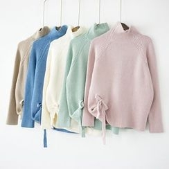 Polaris - Mock Neck Bow Sweater