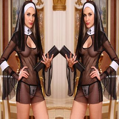 Cosgirl - Nun Lingerie Costume Set