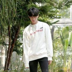 Seoul Homme - Embroidered Brushed-Fleece Lined Sweatshirt