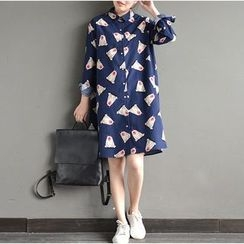Ranche - Bear Print Shirtdress