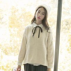sansweet - Cable Knit Sweater