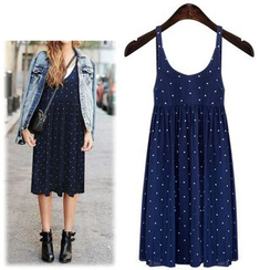 VIZZI - Polka Dot Midi Dress
