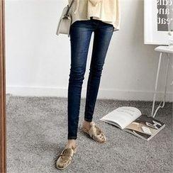 ZIZIBEZIRONG - Washed Skinny Jeans