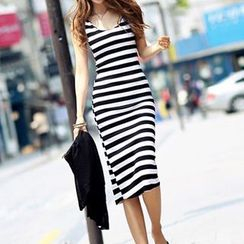 Rocho - Striped Strappy Dress