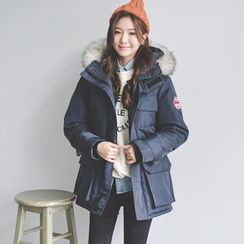 JUSTONE - Fur-Trimmed Hooded Parka