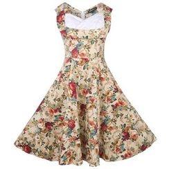 Forest Of Darama - Floral Print Midi Dress
