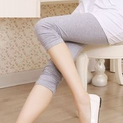 nooyi - Shirred Cropped Leggings
