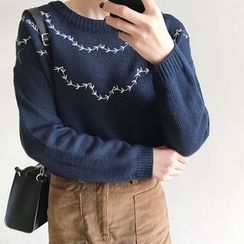 Clair Fashion - Printed Knit Top