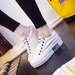 Solejoy - Paneled Platform Hidden-Heel Sneakers