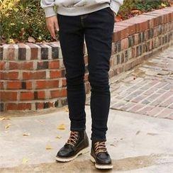 Smallman - Band-Waist Washed Jeans