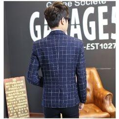 JIBOVILLE - Buttoned Check Blazer