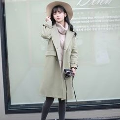 Wind Town - Notched-Lapel Buttoned Coat