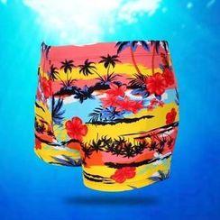 Little Dolphin - Print Swim Shorts