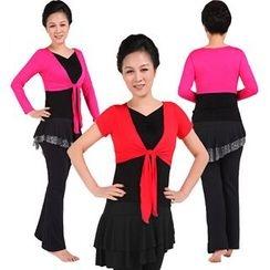 Dancing Queen - Mock Two Piece Short Sleeve Dance Top