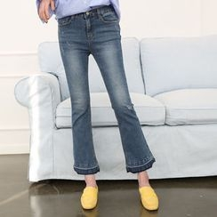 DANI LOVE - Fray-Hem Boot-Cut Jeans