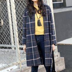 Sienne - Plaid Long Shirt