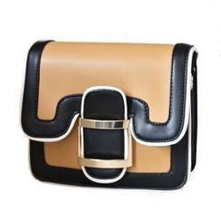 Nautilus Bags - Piped Colour Block Shoulder Bag