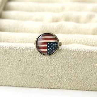 Cuteberry - American Flag Print Ring